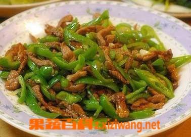 果蔬百科青椒肉丝